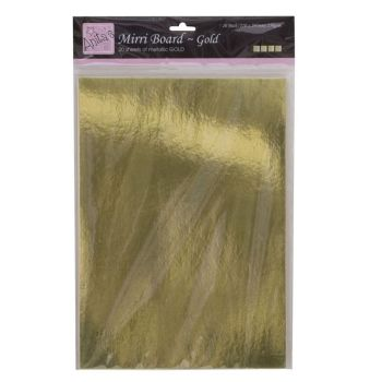 A4 Mirri Board (20pk 250gsm) - Gold