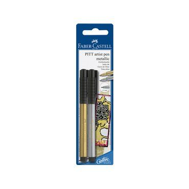 PITT Artist Pen Metallic Gold and Silver Pack