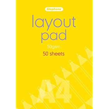 Stephens Layout Pad 50gsm, A4, 50 Sheets