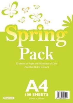 Stephens - A4 50 Sheets Paper & 50 Sheets Card - Spring