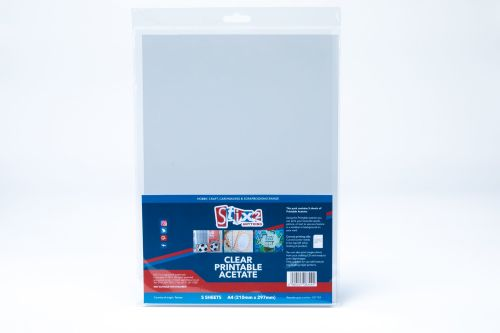 Clear Printable Acetate Sheets (inkjet Printer) - 100 Micron thick - A4