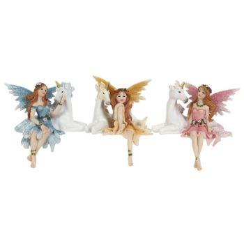 Fairy with Unicorn Ornament