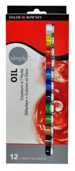 Daler Rowney Simply Oil Set 12x12ml