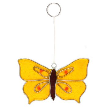 Yellow Brimstone Butterfly Suncatcher