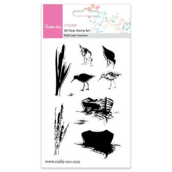 Crafts Too 3D Clear Stamp Set - Multi Layer Seashore (10pcs)