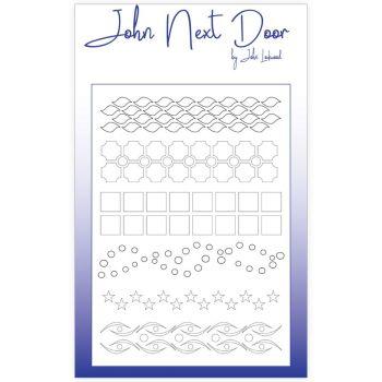 John Next Door Mask Stencil - Borders