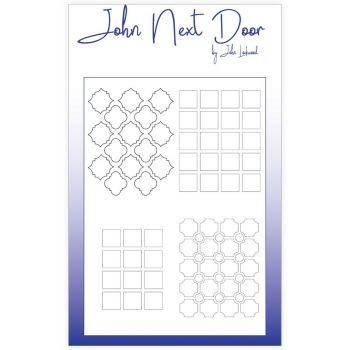 John Next Door Mask Stencil - Quatro Squares