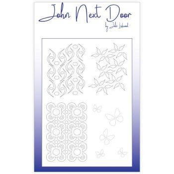 John Next Door Mask Stencil - Flourishes