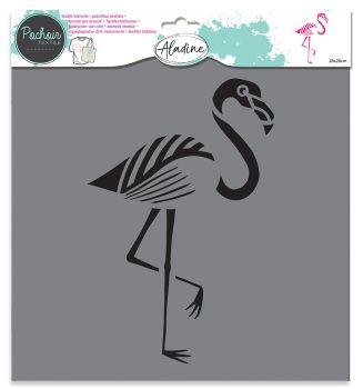 Izink Textile Stencil - Pink Flamingo