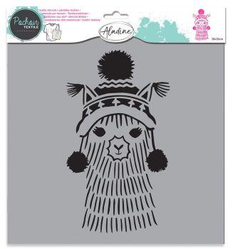 Izink Textile Stencil - Llama