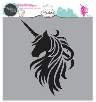Izink Textile Stencil - Unicorn