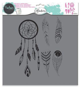 Izink Textile Stencil - Feather