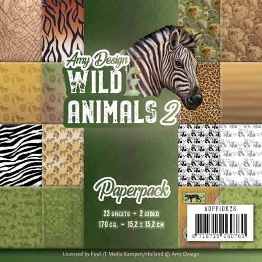 Amy Design Wild Animals 2 Paper Pack