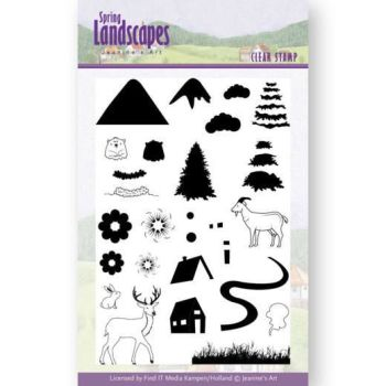 Jeanine's Art Spring Landscapes Clear Stamps - Mountains