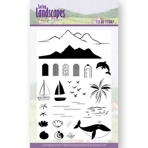 Jeanine's Art Spring Landscapes Clear Stamps - Sea