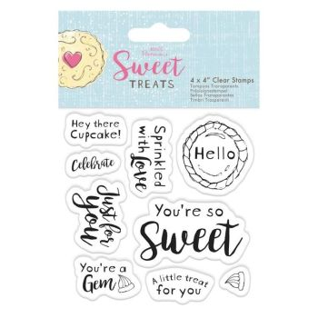 "4 x 4"" Clear Stamp - Sweet Treats - Sentiments"