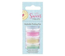 Papermania Sweet Treats Stackable Flocking Pots (4pk)