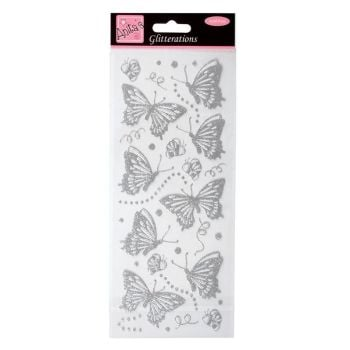Glitterations - Butterflies - Silver