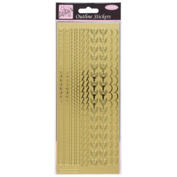 Outline Stickers - Decorative Borders - Gold