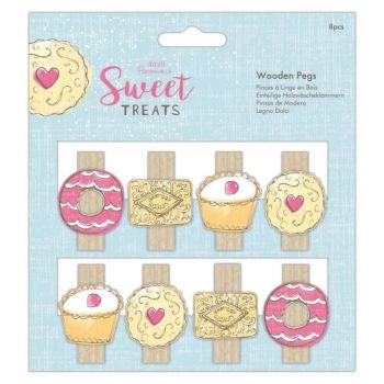 Papermania Sweet Treats Wooden Pegs (8pcs)