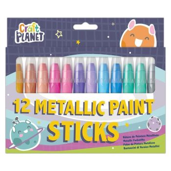 Craft Planet Paint Sticks Metallic 12 Pack