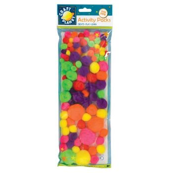 Pompoms (100pk) - Neon Assorted Colours