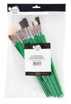 Assorted Brush Bag - 25 Long Handle