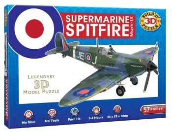 3D Supermarine Spitfire MK-IX 57 Piece Puzzle