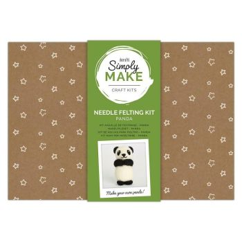 Needle Felting Kit - Simply Make - Panda