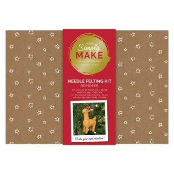 Needle Felting Kit - Simply Make - Reindeer