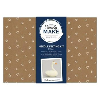 Needle Felting Kit - Simply Make - Swan
