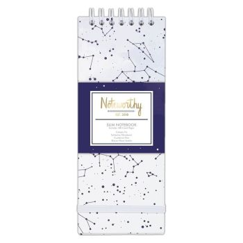 Noteworthy Constellations Slim Notebook