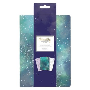 Noteworthy Constellations A5 Notebook Set (3pcs)