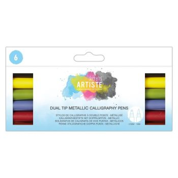 Docrafts Dual Tip Calligraphy Pens (6pk)