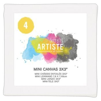 Docrafts Mini Canvas 3x3 Inch (4pk)