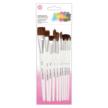 Docrafts Watercolour Paint Brush Set (10pk)