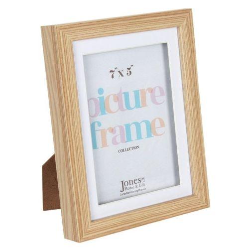 7X5 Light Wood Effect Box Photo Frame