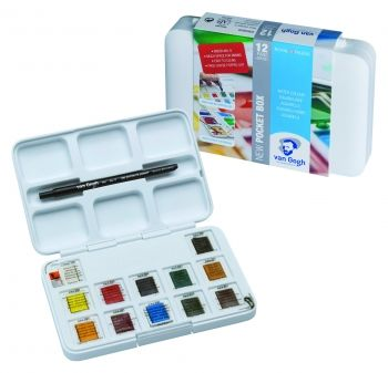 12 Pan Pocket Box Van Gogh Watercolour Set