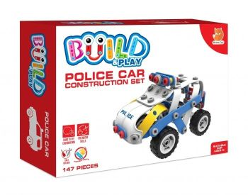 Build and Play Police Car Construction Set