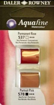 DR AQUAFINE Half Pan Set 6 Permanent Rose & Portrait Pink