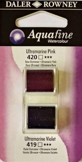 DR AQUAFINE Half Pan Set 8 Ultramarine Pink & Ultramarine Violet