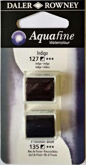 DR AQUAFINE Half Pan Set 10 Indigo & Prussian Blue