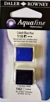 DR AQUAFINE Half Pan Set 12 Colbalt Blue Hue & Phatho Blue