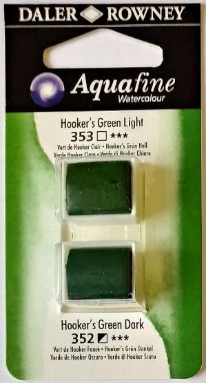 DR AQUAFINE Half Pan Set 15 Hookers Green Light & Hookers Green Dark