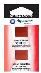 DR AQUAFINE Half Pan Set 18 Cadmium Red Hue & Cadmium Red Light Hue