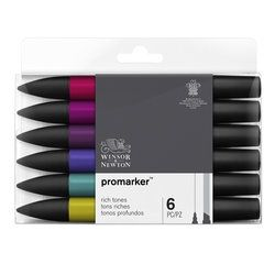 PROMARKER RICH TONES BY WINSOR & NEWTON (6 pack)