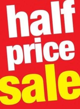 ST90H-half_price_sale_Standard_Poster-_Floor_Stand_Savings_Signs_for_retail