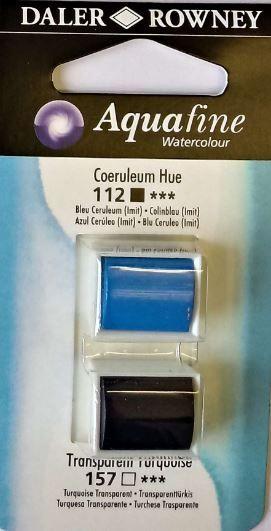 DR AQUAFINE Half Pan Set 13 Coreuleum Hue and Transparent Turquoise