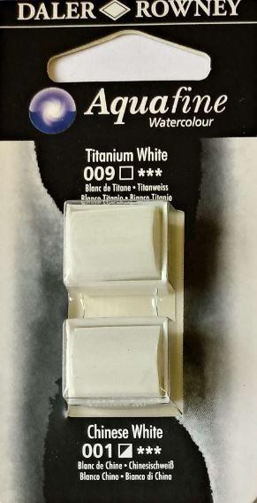 DR AQUAFINE Half Pan Set 23 Titanium White and Chinese White