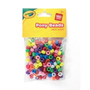 Crayola Assorted Pony Beads - 100pc
